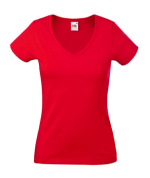 Fruit of the Loom Lady-Fit V-Neck rot
