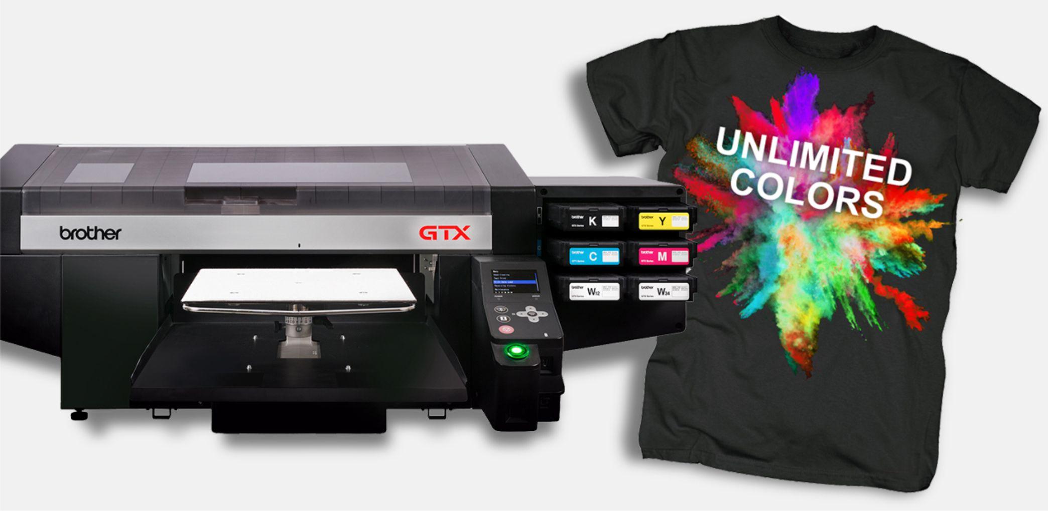 T-Shirt bedrucken aus der Schweiz mit Brother GTX-422