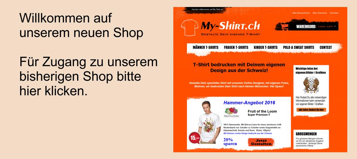 My-Shirt.ch T-Shirt bedrucken aus der Schweiz